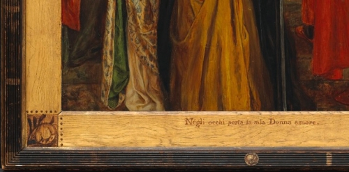 10 Rossetti The Salutation of Beatrice 1859 National Gallery of Canada Detail 1