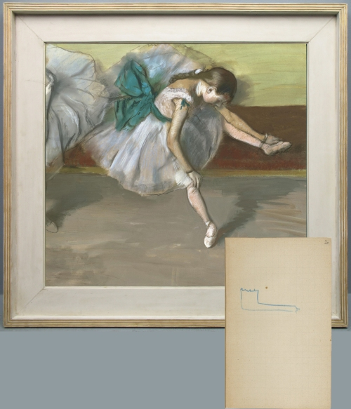 Edgar Degas (1834-1917), Danseuse au repos, 1879, in original frame; sketch  from Carnet de croquis no 5, 1879-82, Dpartement des Estampes, ...