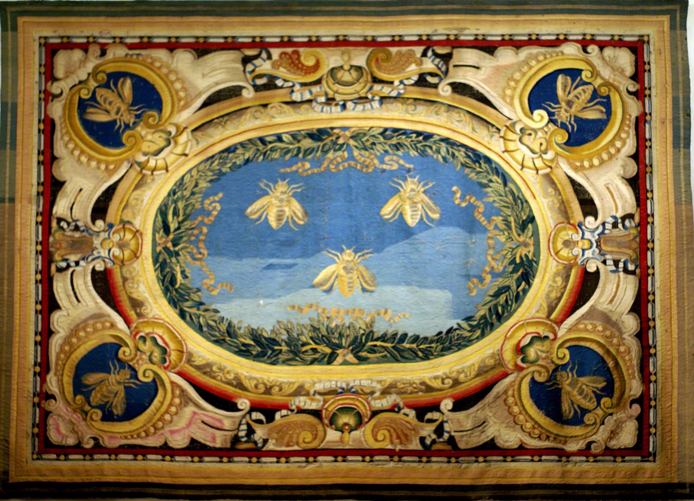 Pietro da Cortona (1596/97-1669 designed by); Jacob van den Vliete (otherwise Giacomo della Riviera; made by); Canopy of heaven 1633 tapestry ... & Arazzia Barberini | The Frame Blog