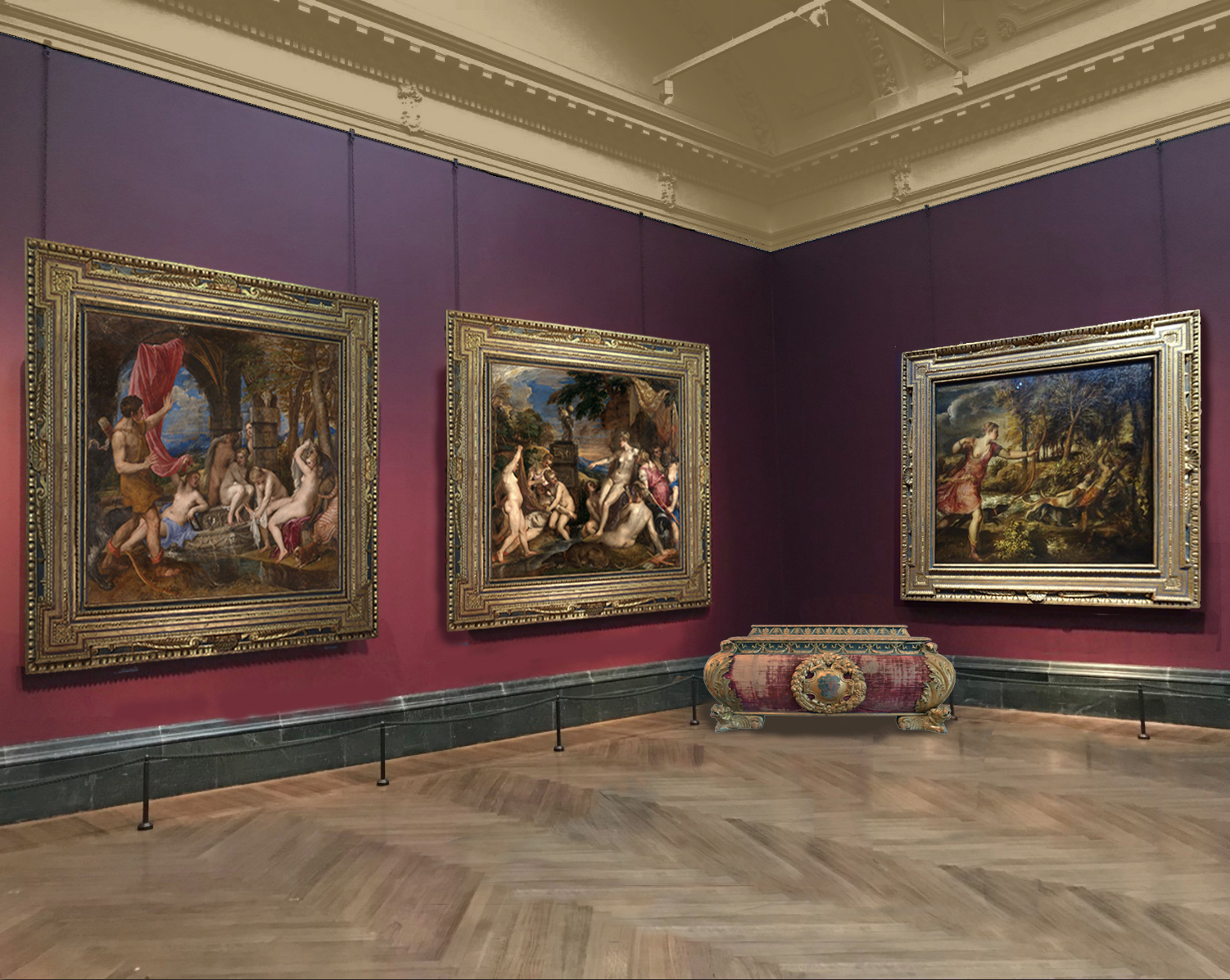 Titian The death of Actaeon   The Frame Blog