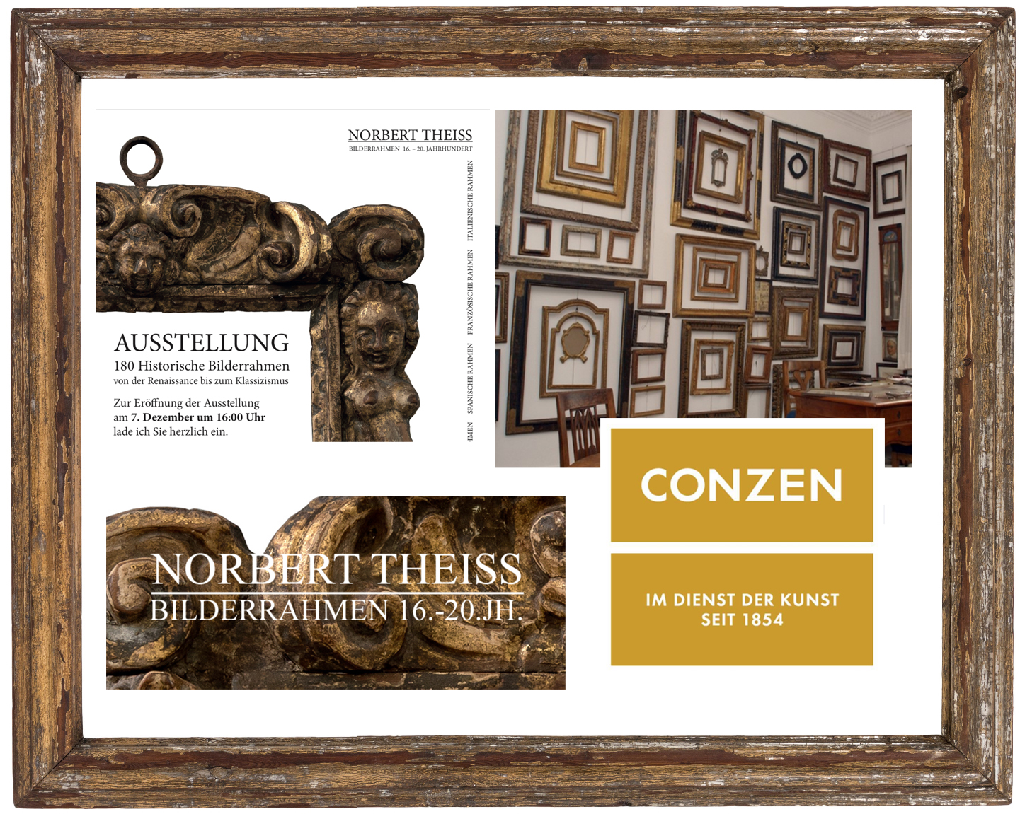 Norbert Theisss Frame Exhibition And Conzen 15th Antique Frame