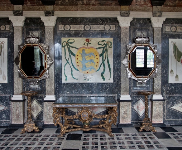 8693693b1354 Heindrich Reinicke, star-shaped octagonal looking-glasses, silver and  aventurine lacquer, 1706, and detail with the Order of the Elephant, Marble  Cabinet, ...