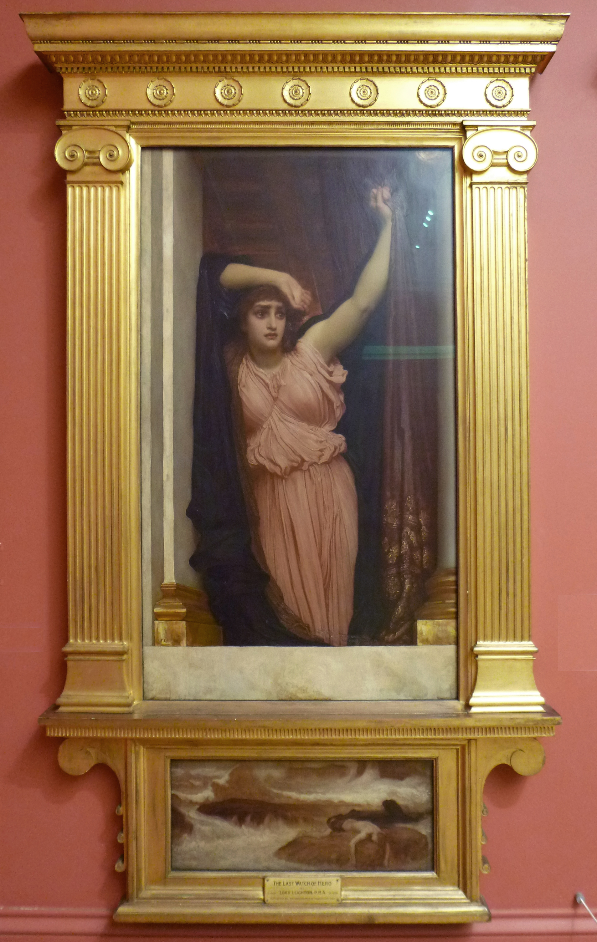 46 Frederic Ld Leighton The last watch of Hero c1887 Manchester CAG