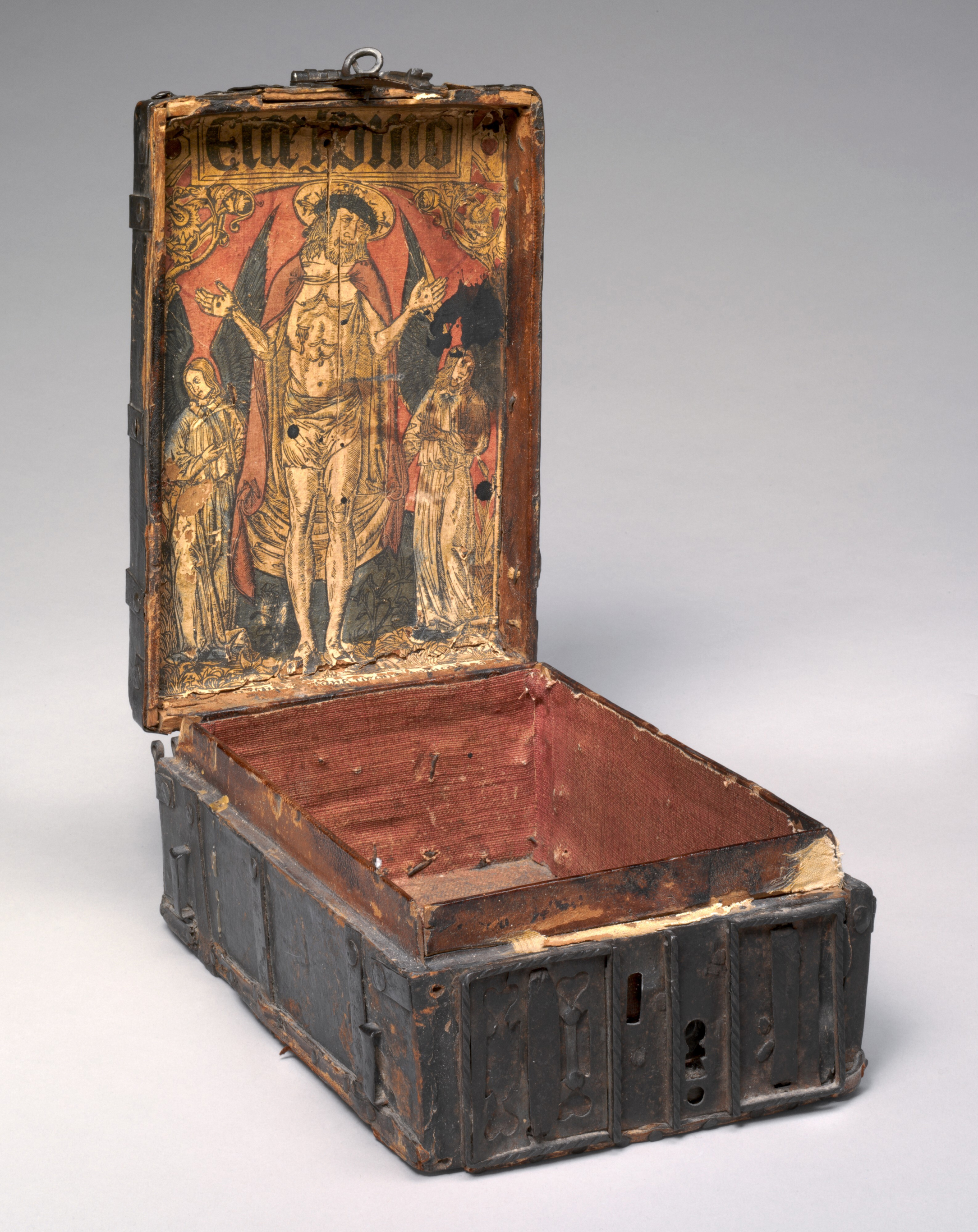 12 French cofferet with woodcut of Christ as the Man of Sorrows c1500 NGA Washington1952.8.7