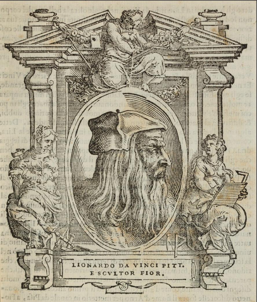 16 Illustration of Leonardo da Vinci from Le Vite RA