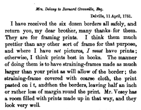 21 Mrs Delany thanks her brother for borders April 1751