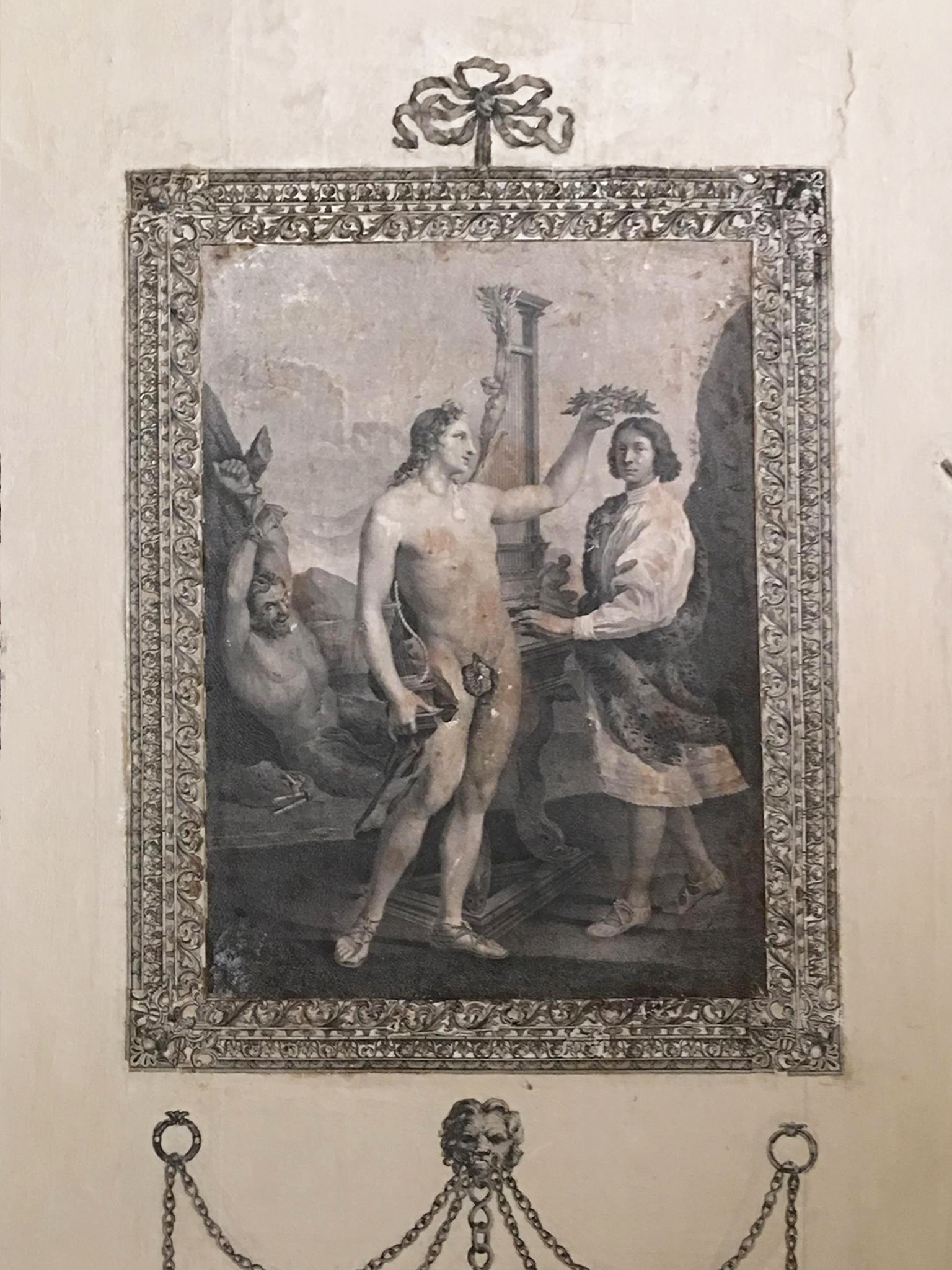 28D Castletown House Kildare Ireland Robert Strange 1755 after Sacchi Marcantonio Pasqualini crowned by Apollo 1641