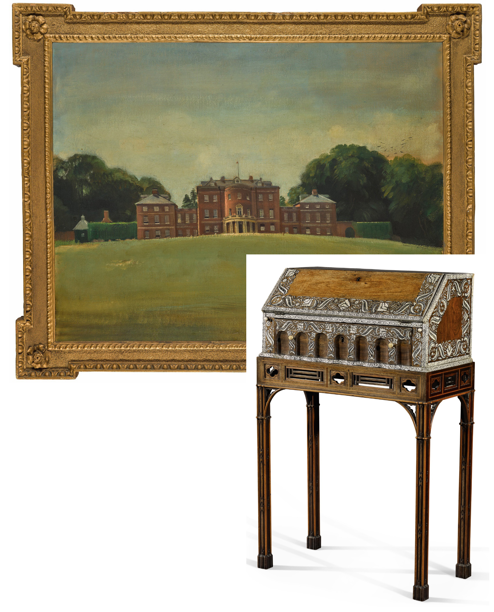 35 Mersham le Hatch Sir Oswald Birley & stand by Chippendale Sotheby s 24Mar2021 Lot99