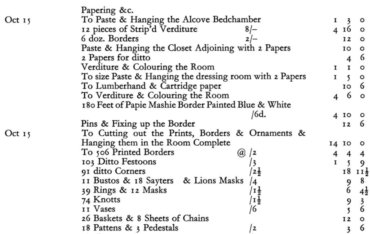 35A Print Room Mersham le Hatch Chippendale invoice