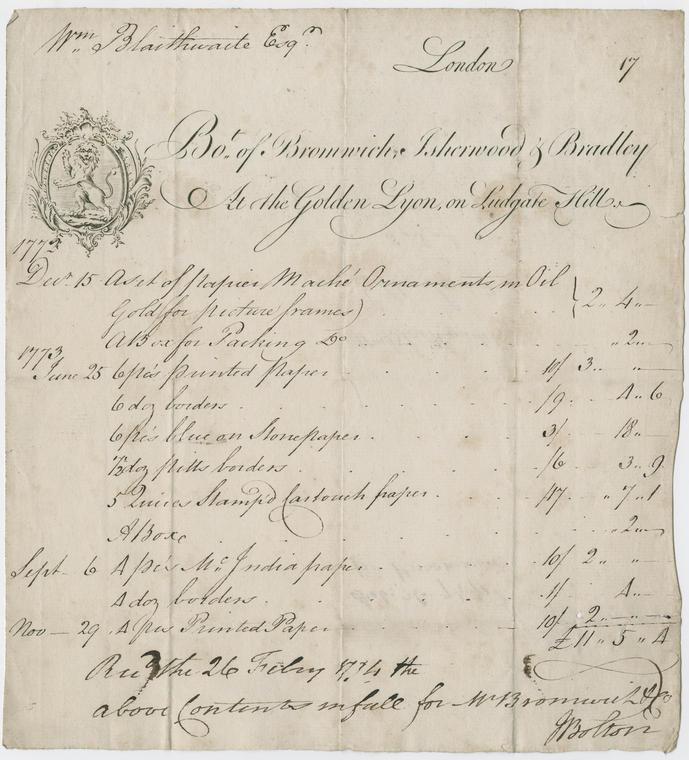 38B Bill of Bromwich, Isherwood & Bradley Fitzwilliam Museum P_12988_R