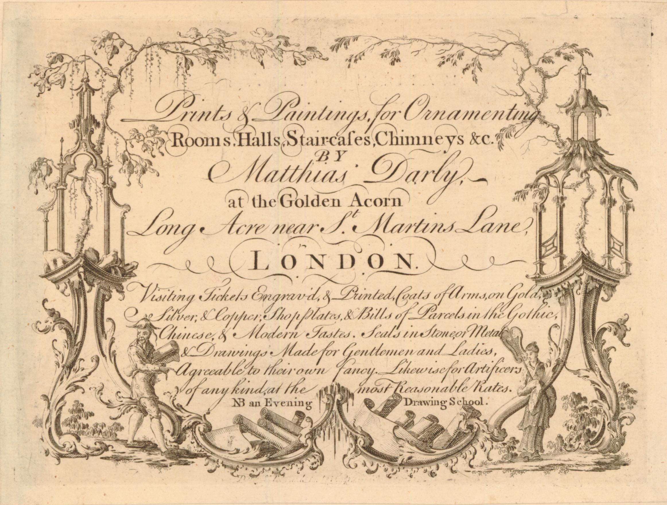 39 Matthew Darly Trade card 1762to66 BM
