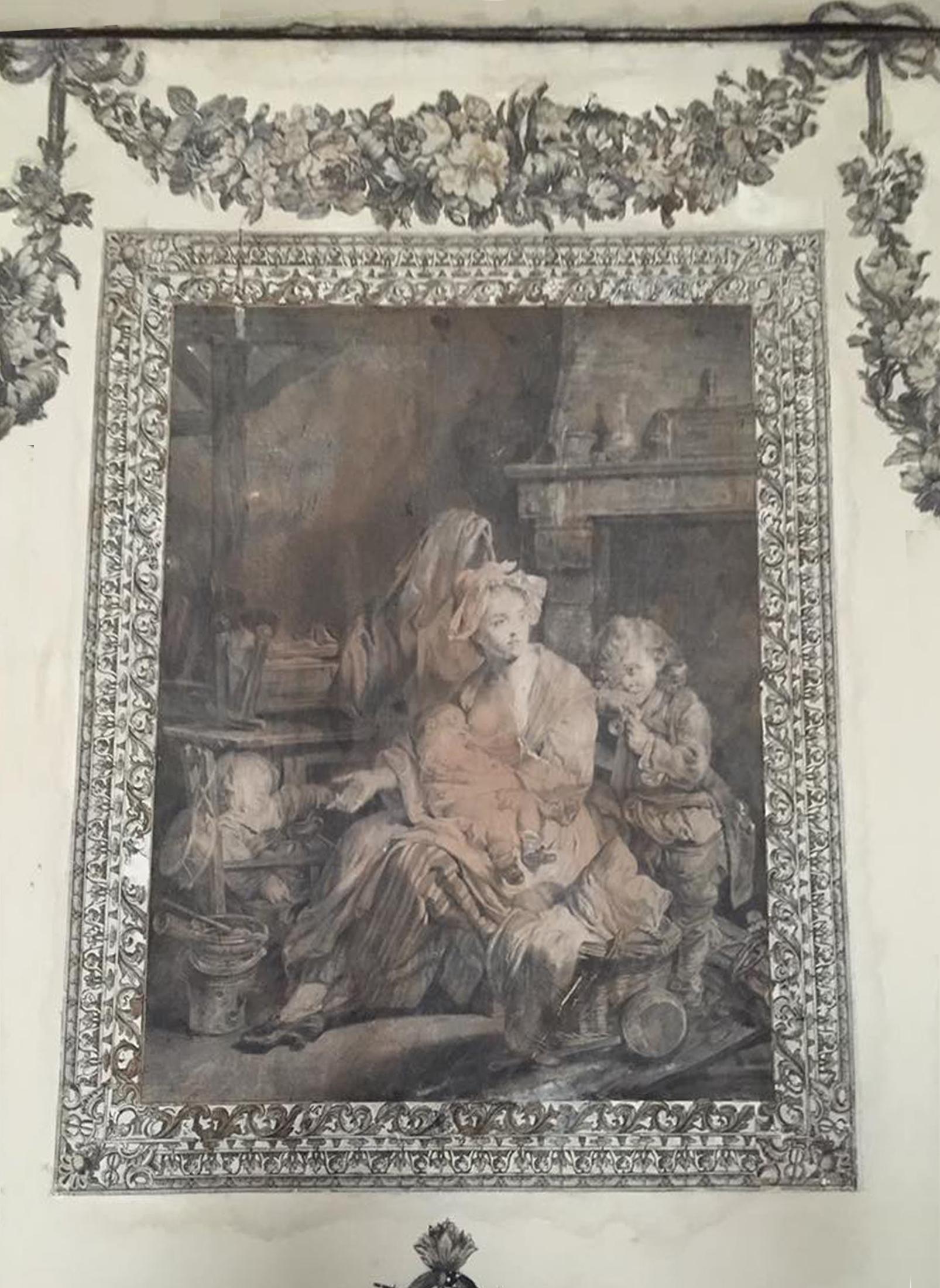 41E Castletown House Ireland 1769 Print of Greuze Silence Kildare