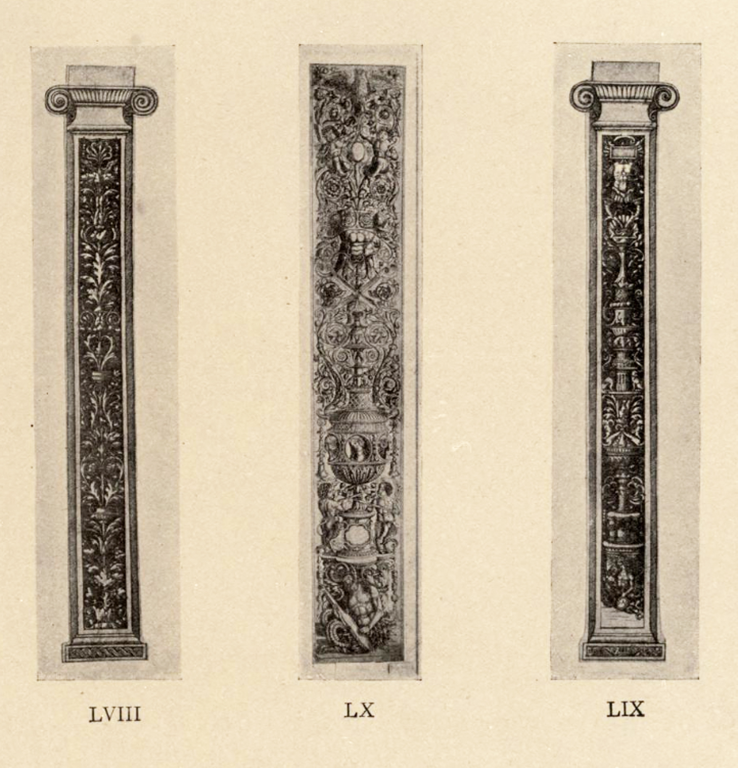 9 Zoan Andrea Panels of vertebrate & candelabrum ornament pub Arthur Hind