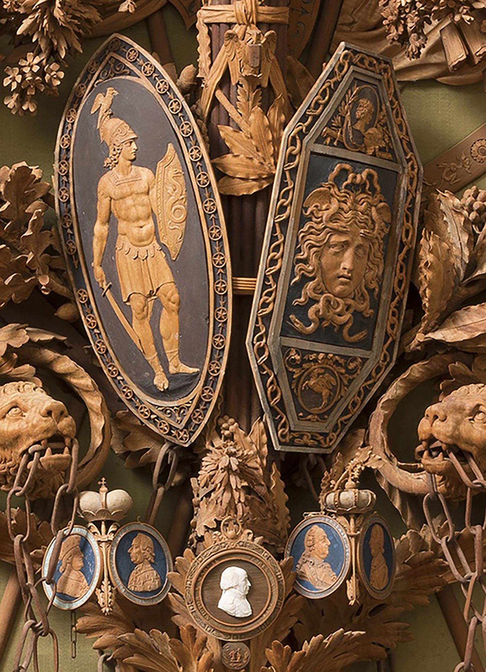 10C Bonzanigo Military trophy 1793-1814 Palazzo Madama Turin detail 2