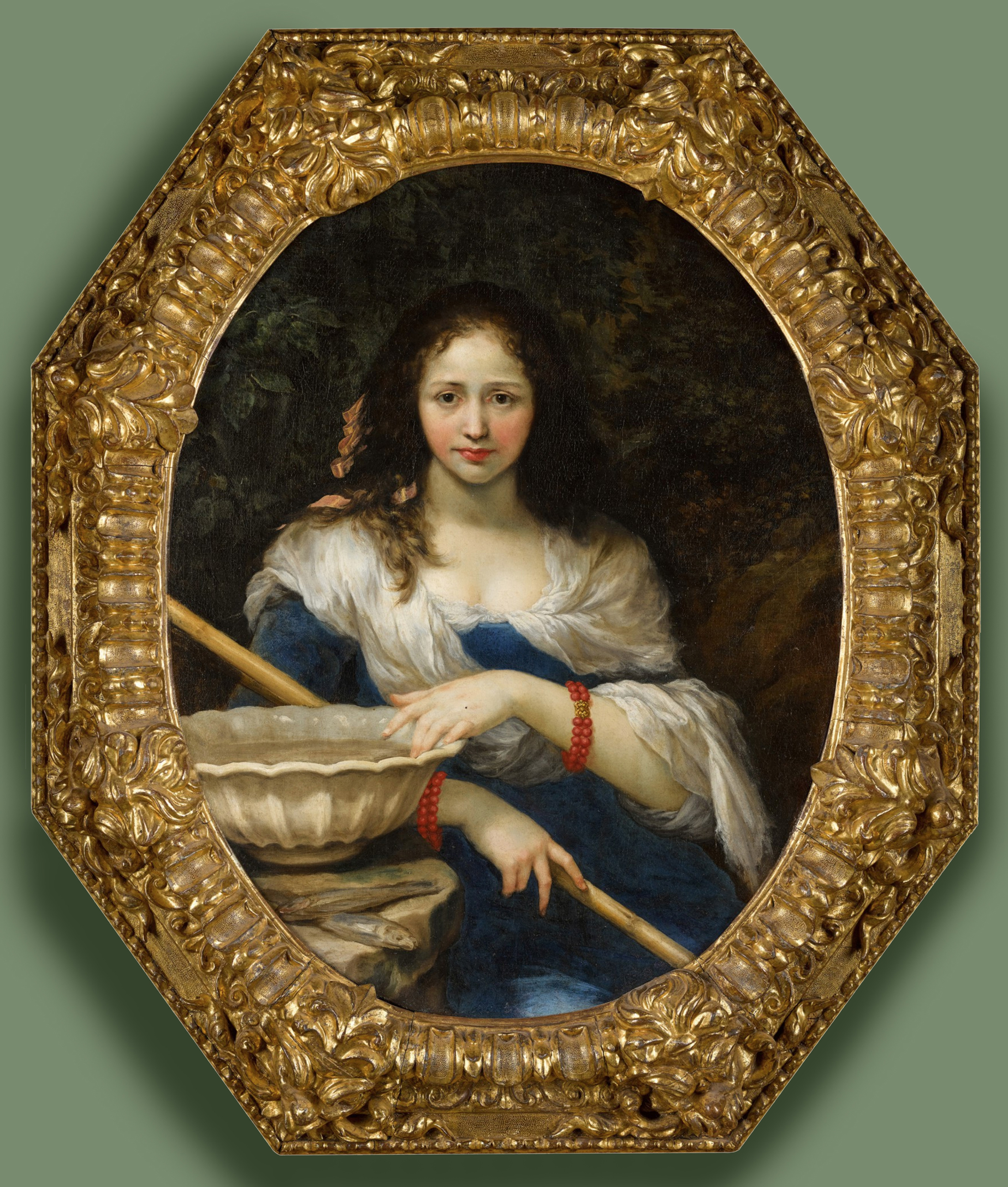 0 Il Volterrano Woman with a fishing rod or Fraud Sothebys 7July2021 Lot 41