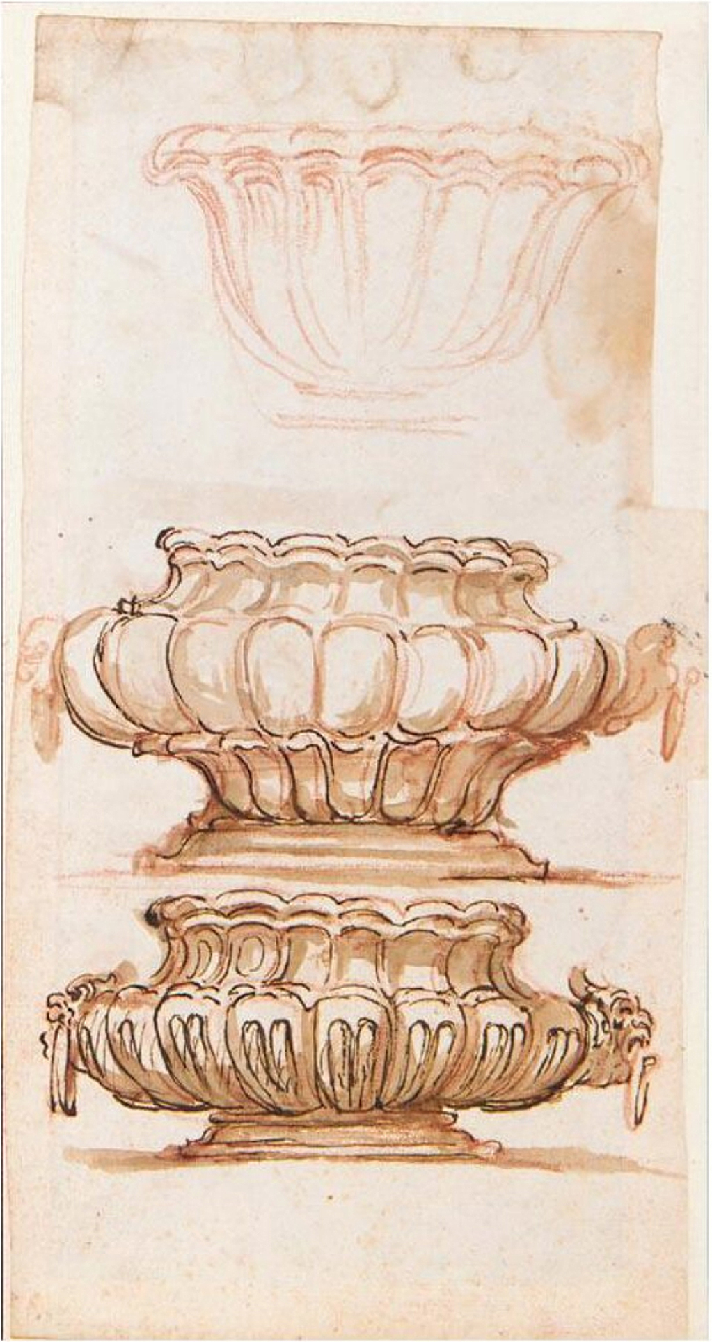 13B Il Volterrano 1611to90 designs for a silver basin Sotheby s 6July2005 Lot 128