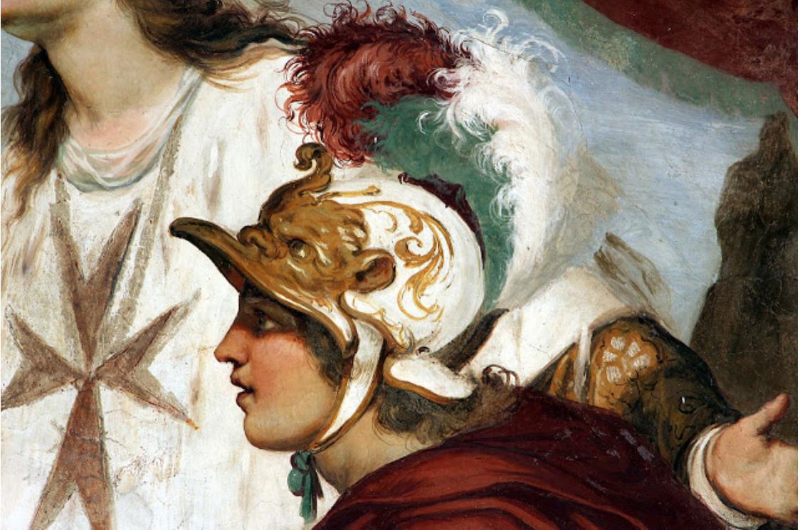 14A Il Volterrano Sea Supremacy of Tuscany c1637to46 fresco detail Villa La Petraia near Florence