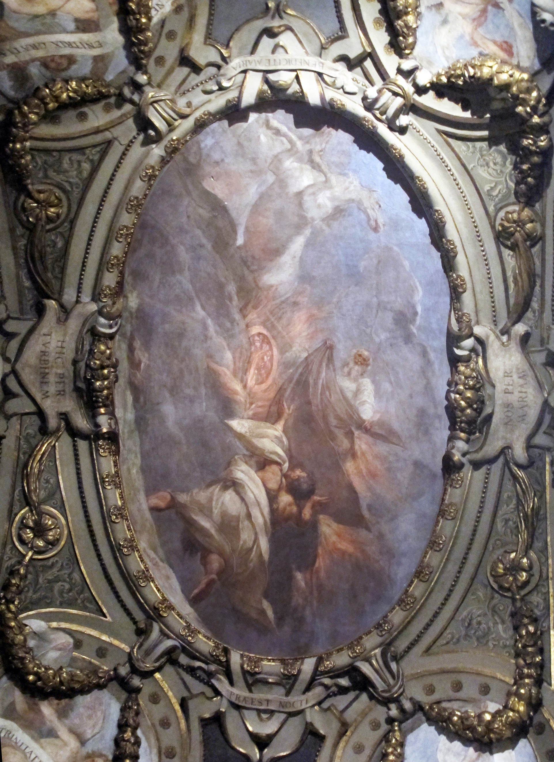 4A Elijah on a chariot of fire 1642 Orlandini chapel Santa Maria Maggiore Florence