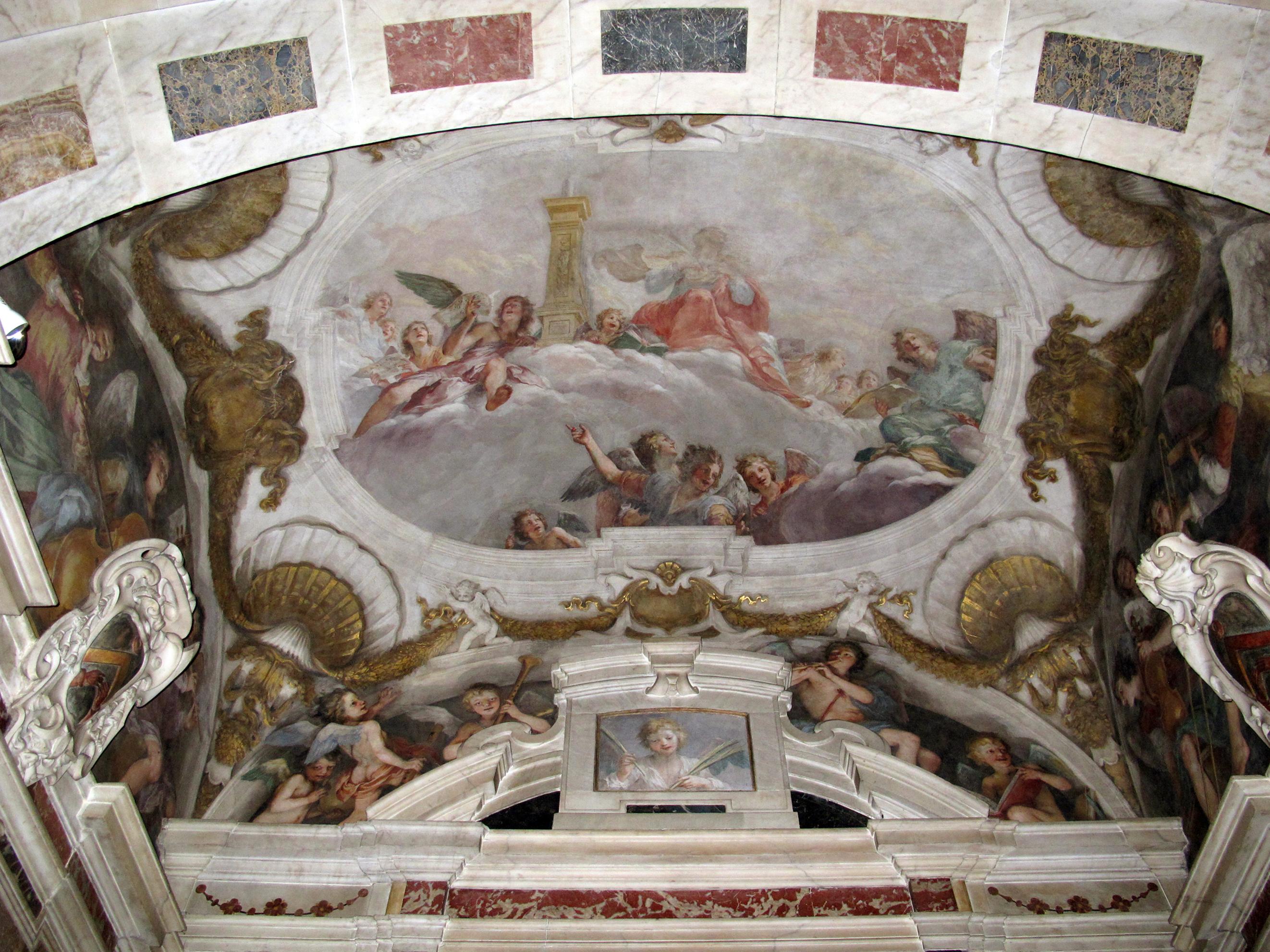 6A Il Volterrano St Cecilia in Glory and Angels 1643to44 Cappella di San Biagio SS Annunziata 1