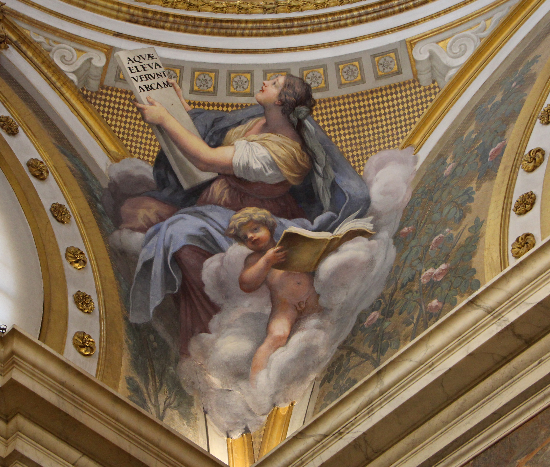 7B Il Volterrano Niccolini Chapel 1653 on Santa Croce detail