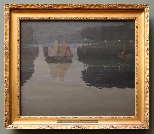1 Johan Rohde Late Evening at the Quay in Hoorn 1893 Den Hirschsprungske Samling Kbh