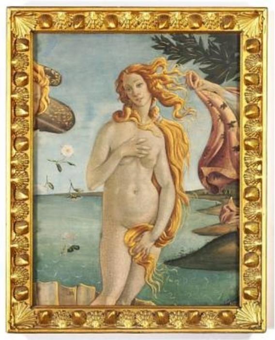 10 Harald SlottMøller Birth of Venus detail after Botticelli 1898 pastel wcol & gold on paper 66x50cm Bruun Rasmussen Auctioneers 31May2010 lot48 Copenhagen