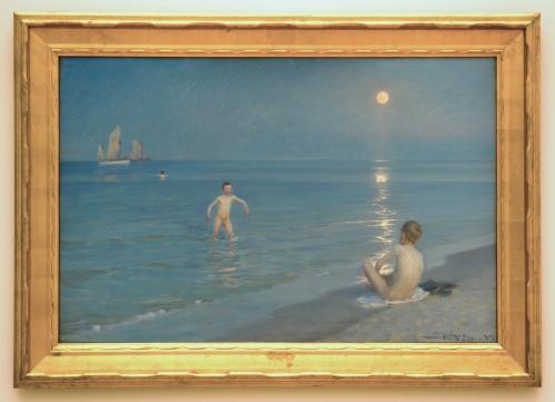 18A Krøyer Boys bathing at Skagen Statens Museum for Kunst Copnhagen