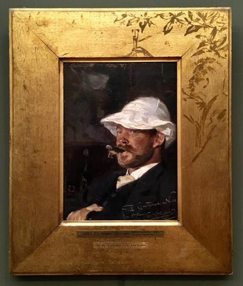 18A PS Kroyer Portrait of the artist Thorvald Niss 1887 35.5x25cm Hirschsprung Coll