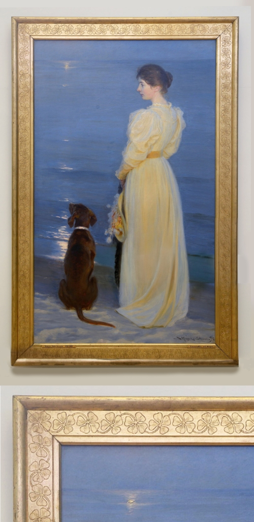 18C PS Krøyer Summer evening at Skagen 1892 205x123 cm Skagens Museum