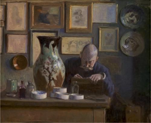 19A Ludvig Find Portrait of Thorvald Bindesbøll Statens Museum for Kunst