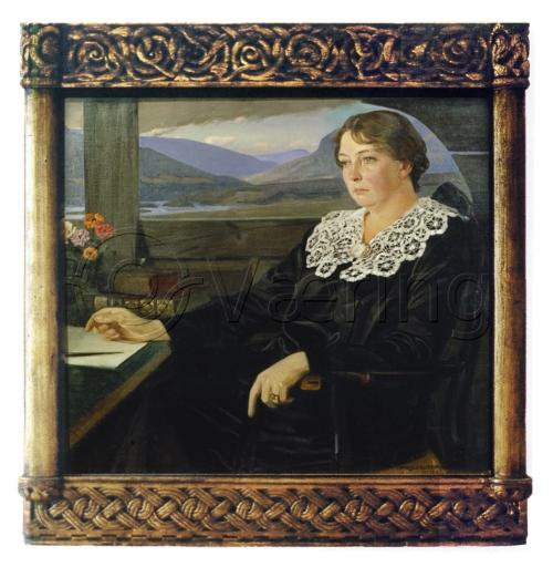 21 Harald SlottMøller Portrait of Sigrid Undset 1923 o c Aschehougs Forlag Oslo