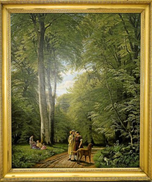 7A Peter Skovgaard Beech wood in May view from Iselingen 1856-57