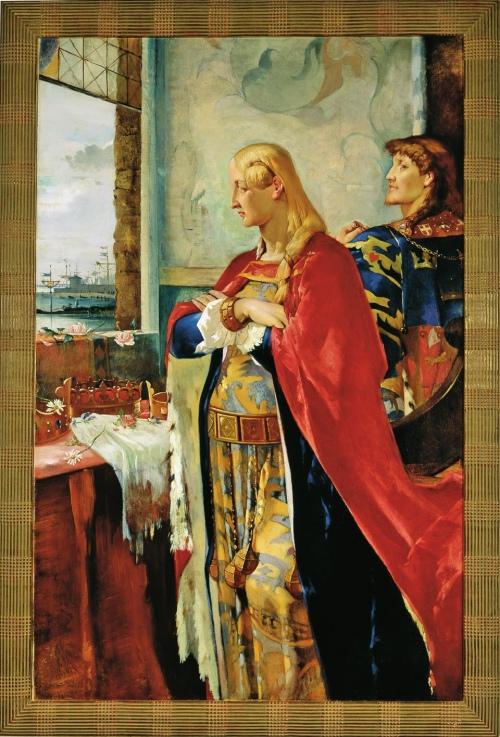 9A Agnes SlottMøller Queen Margrete & Erik of Pomerania 1884to87 140x90cm