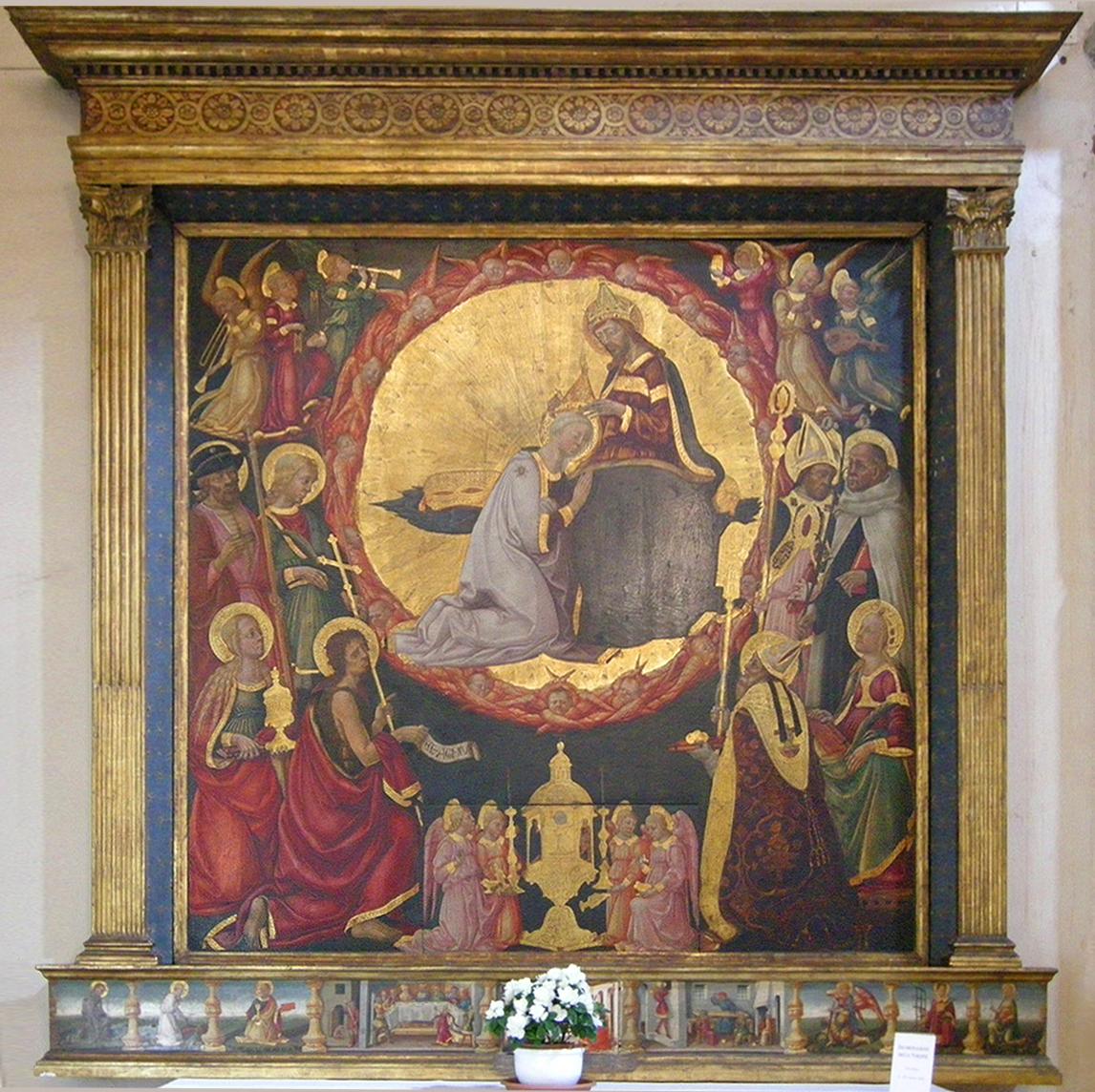 16 Neri di Bicci Coronation of the Virgin 1460 San Giovannino dei Cavalieri sm