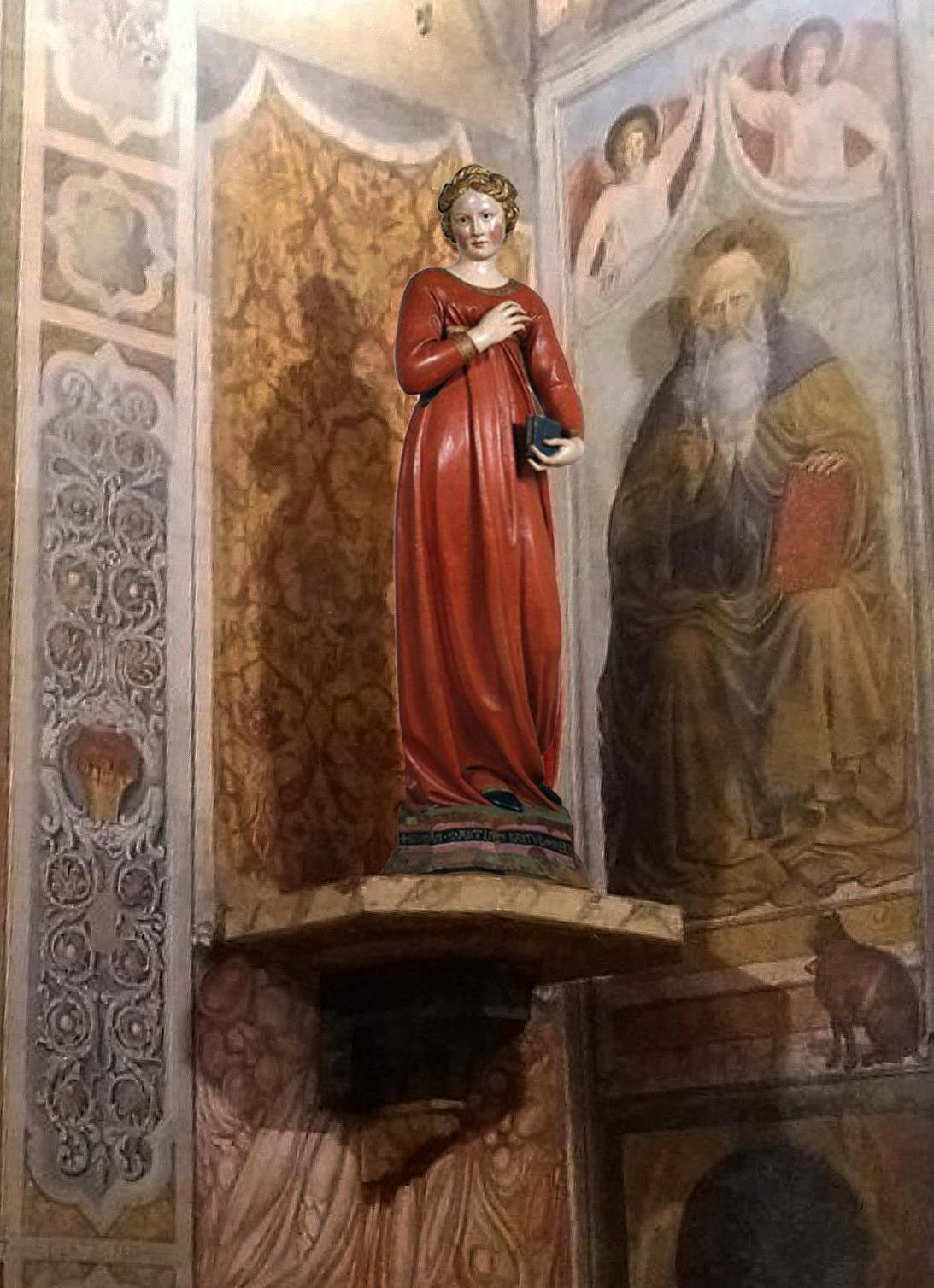 20 Jacopo della Quercia Annunciate Virgin Collegiata di Santa Maria Assunta