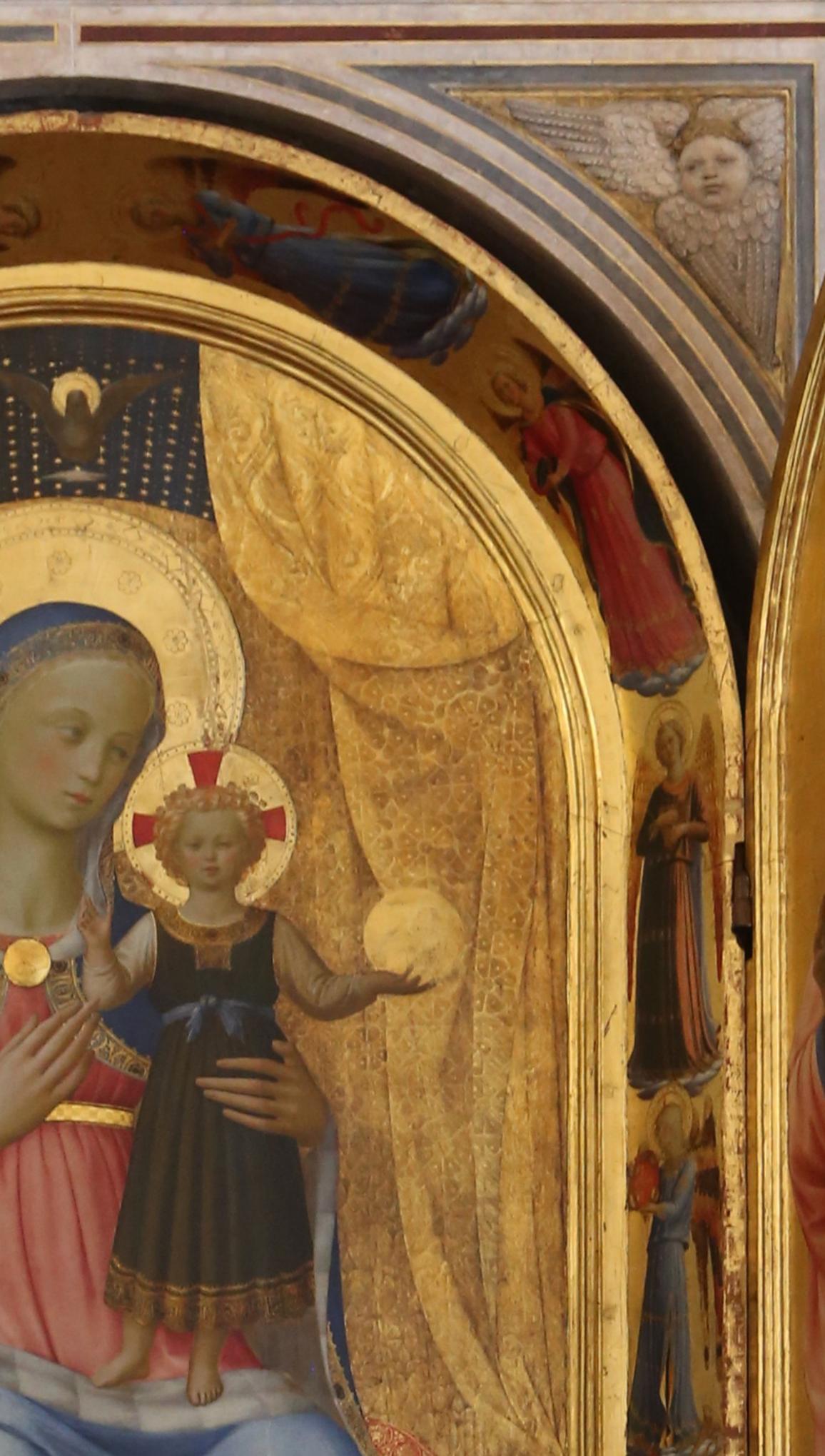 5 Fra Angelico & Lorenzo Ghiberti Tabernacolo dei Linaioli 1432 detail