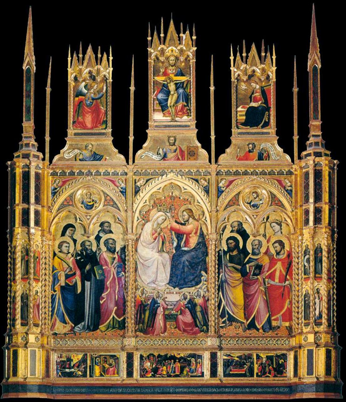9 Lorenzo di Niccolò Coronation of the Virgin 1402 S Domenico Cortona