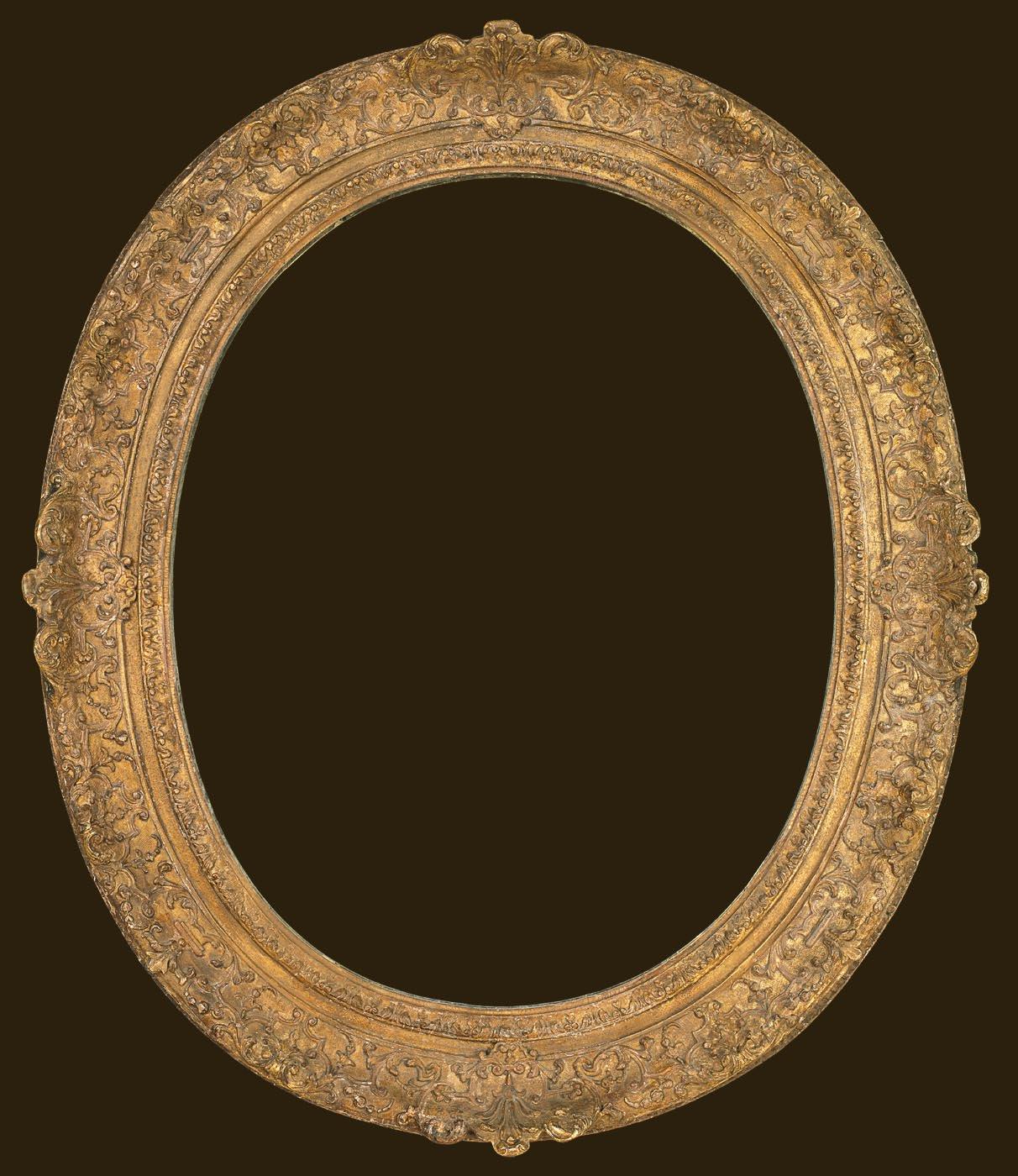 10 Louis XIV oval frame 36 x 29 ins Diego Salazar
