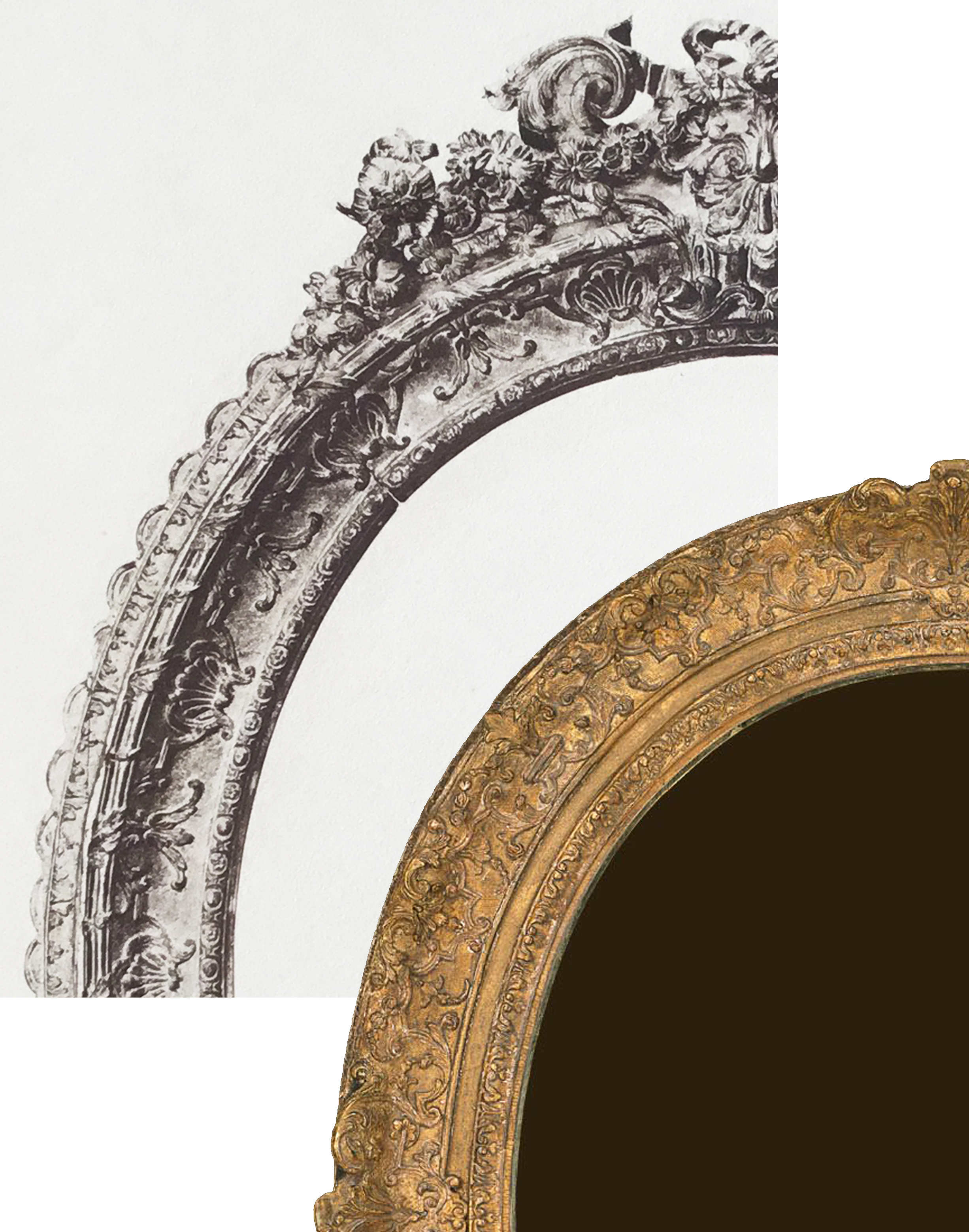 10B Details of Plate 38 & Louis XIV oval frame