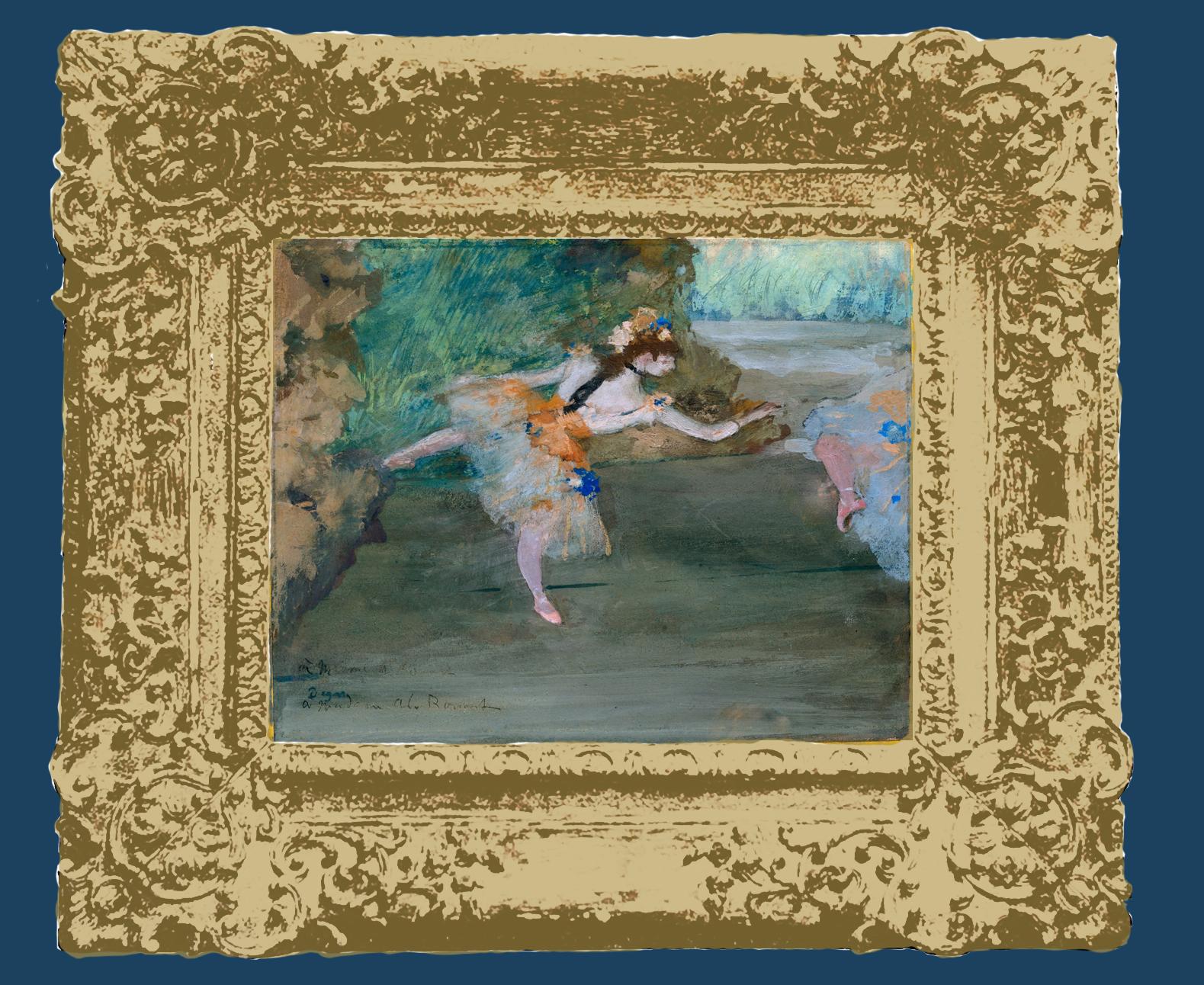 14B Plate 43 Degas Dancer onstage Met Mus NY