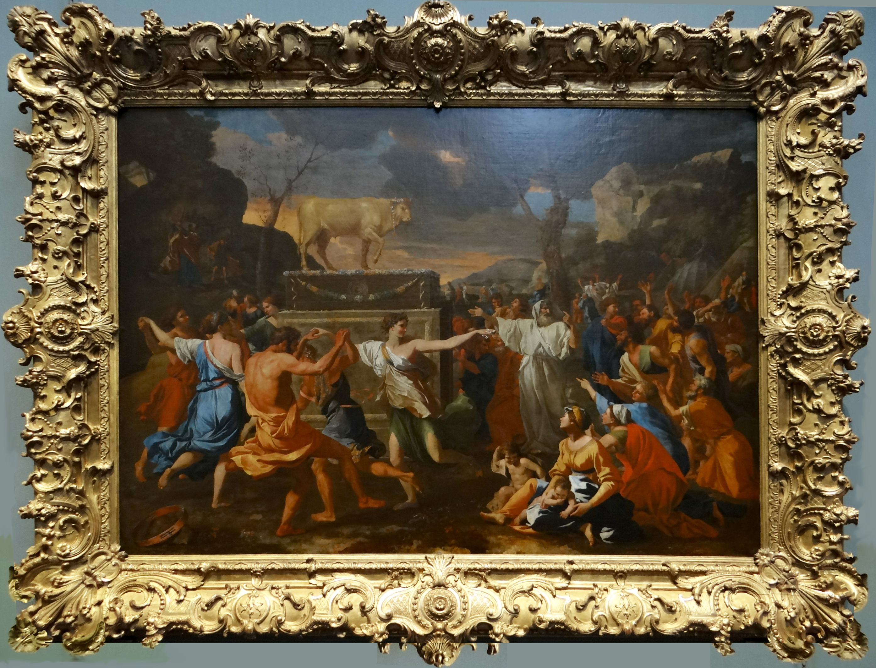 15B Poussin Adoration of the Golden Calf National Gallery London