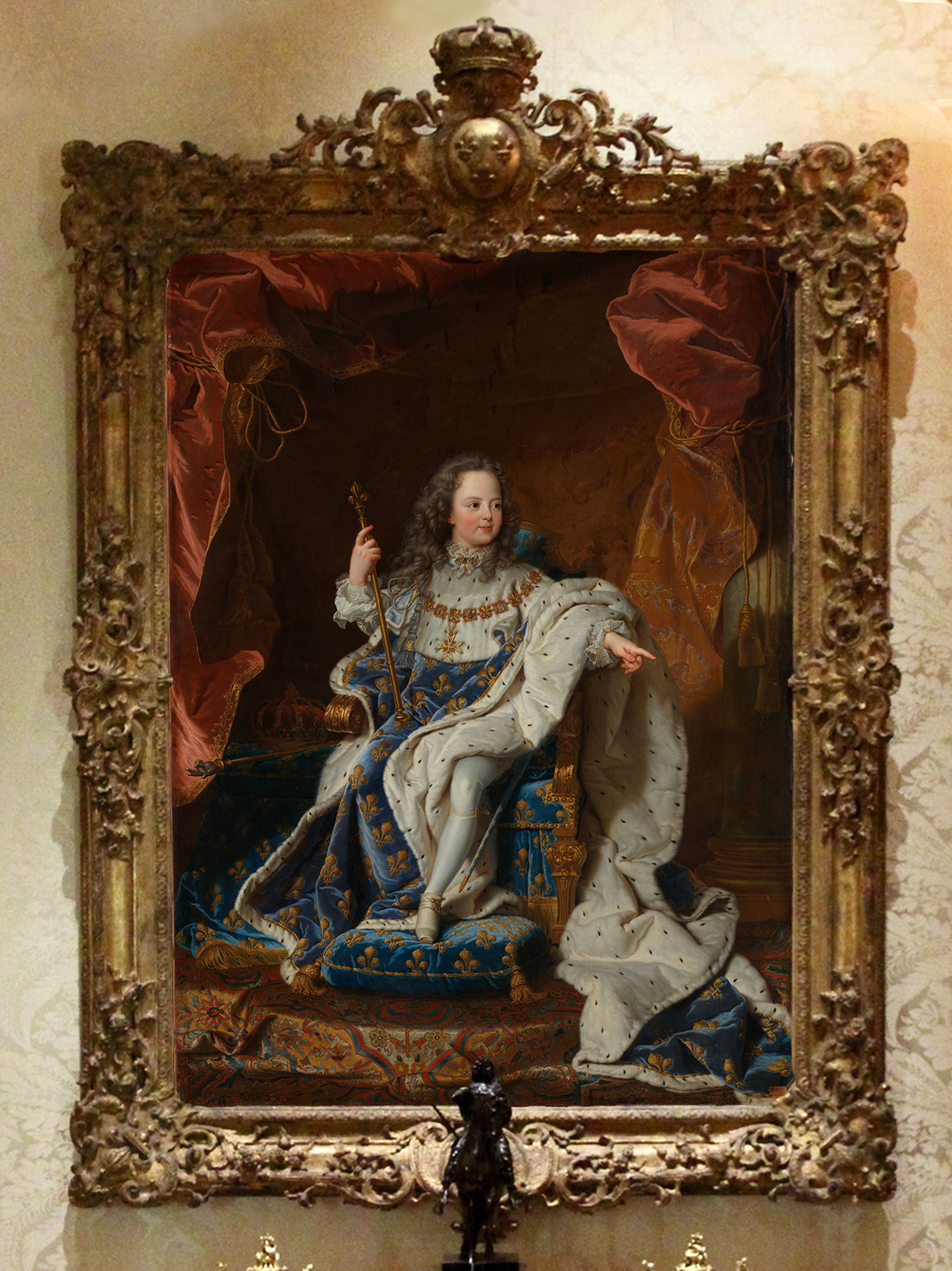 1B Hyacinthe Rigaud after Louis XV as a child c1716to24 Met Mus New York