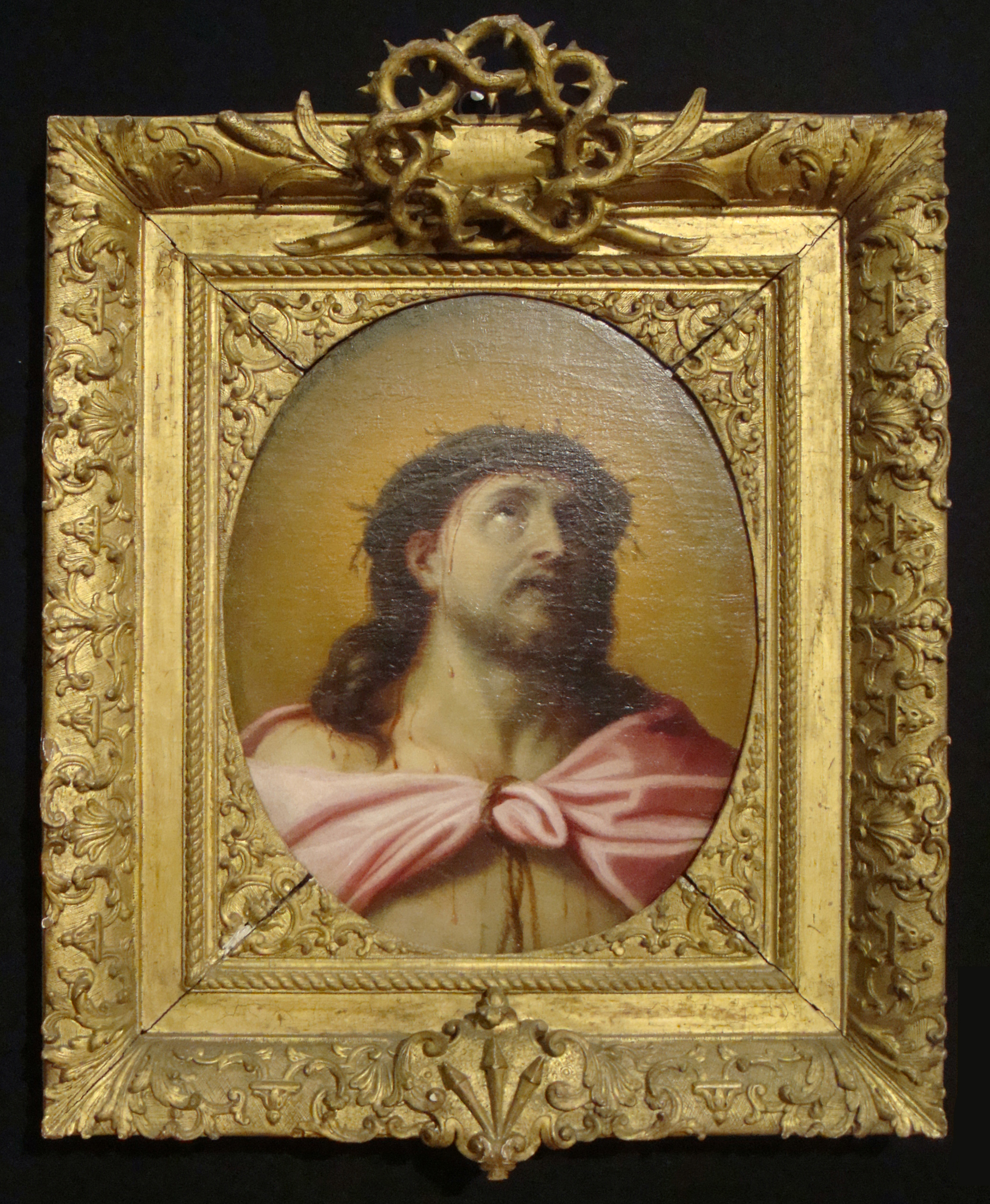 23D French School C17 Christ as the Man of Sorrows o c 39.4x31.5cm Christie s 24Oct2012 Lot90