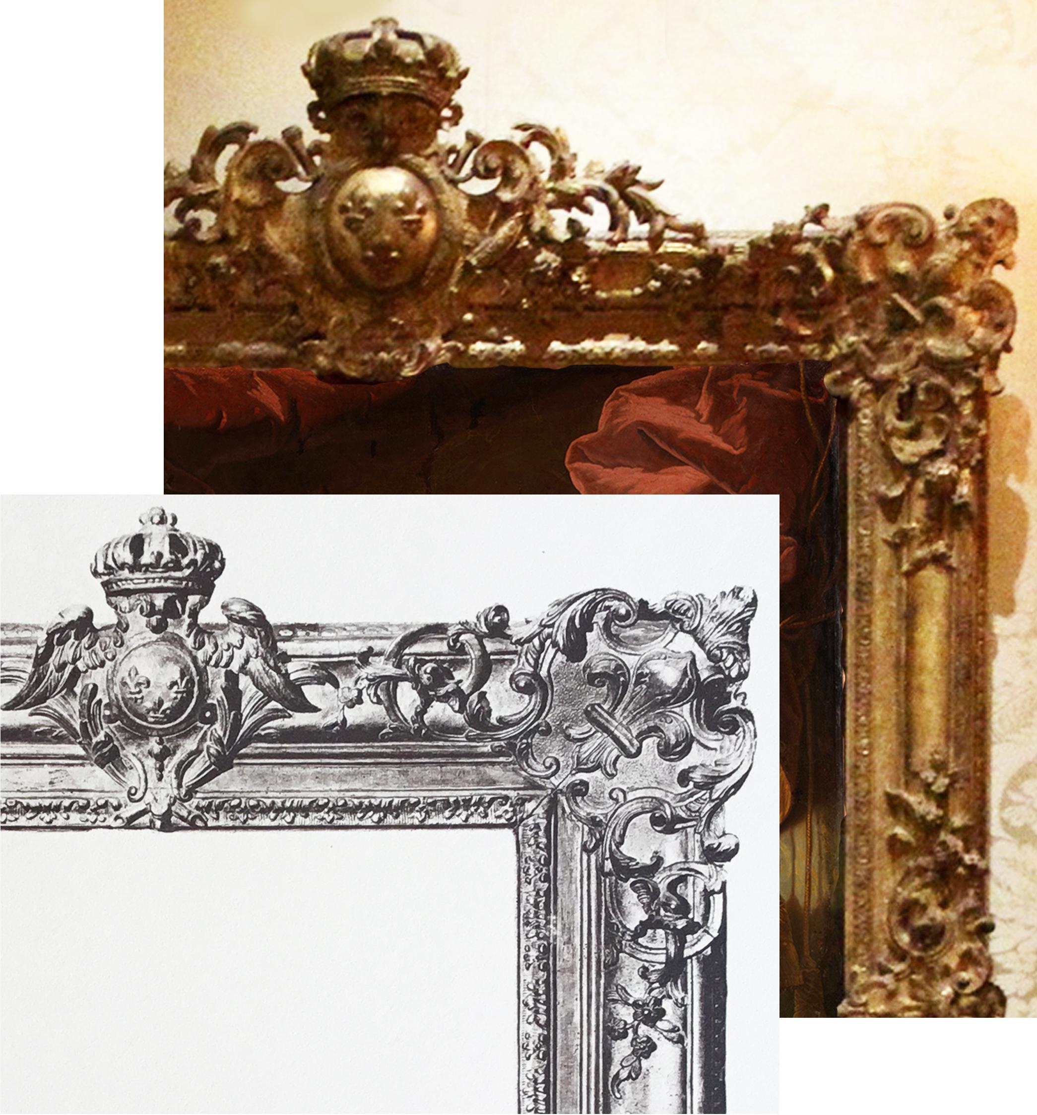 6B Plate 35 detail & detail of Rigaud Louis XV