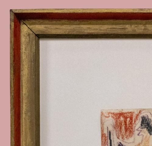10B Kirchner Nachzeichnung des Palaubalkens c1910 detail