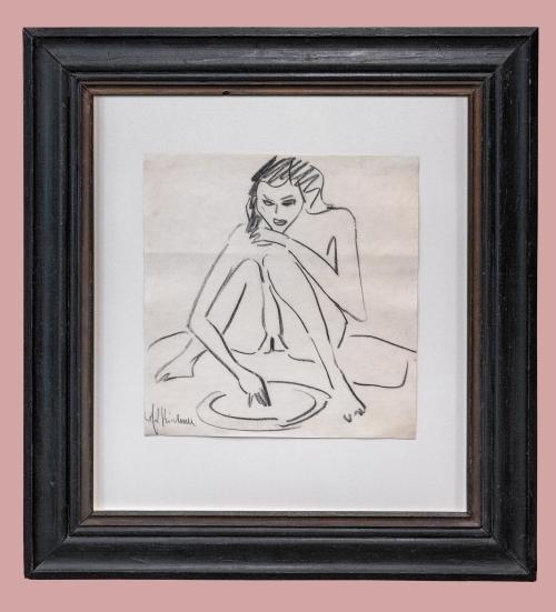 12C Kirchner Sitzende Fränzi c1910