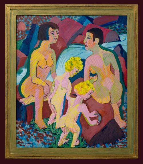 8A Kirchner Badende Frauen und Kinder 1925-32